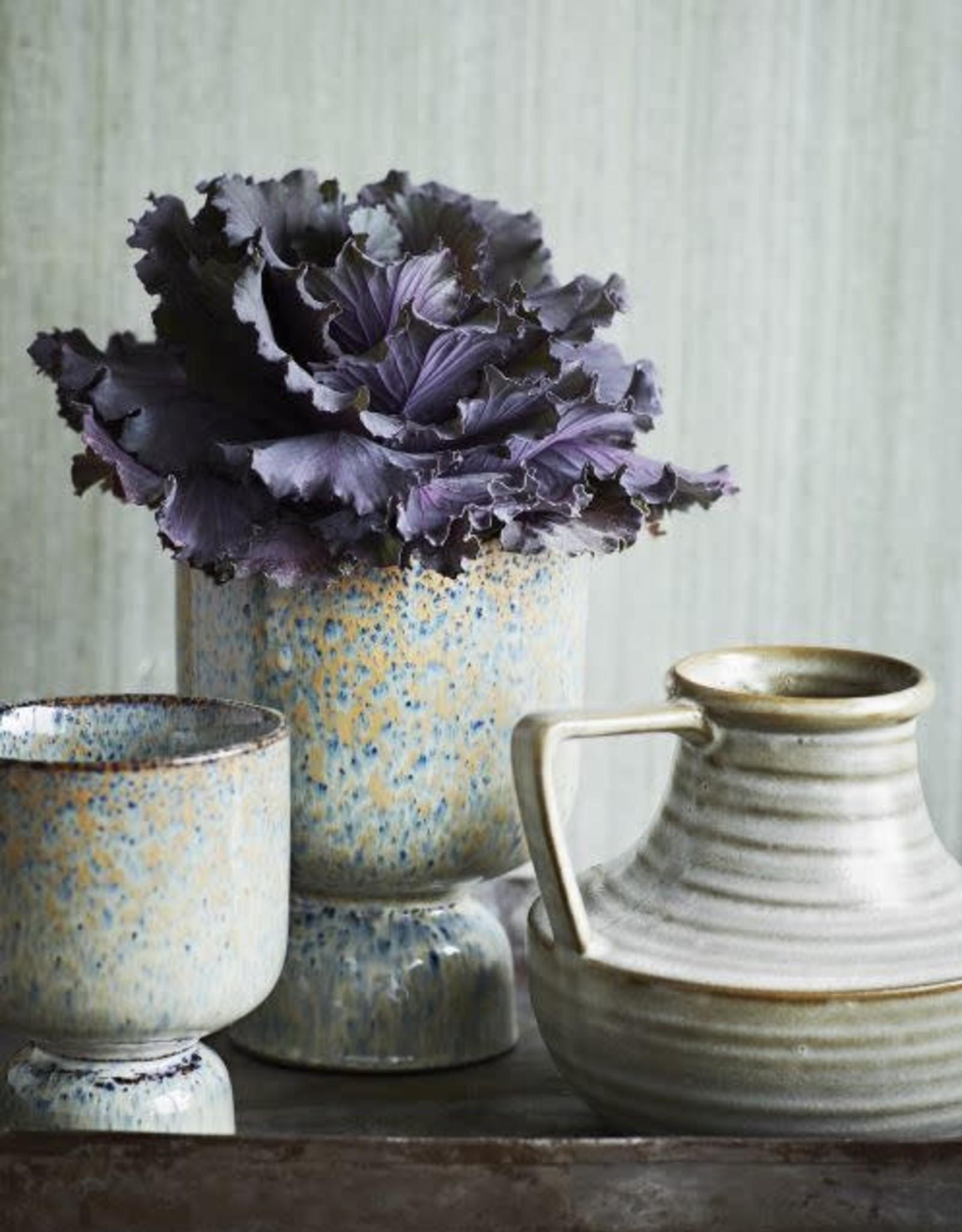 Madam Stoltz Stoneware flower pot Ø12.5 x 17.5 cm - Speckles