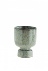 Madam Stoltz Gespikkelde stenen bloempot Ø9.5 x 13.5 cm