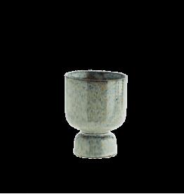 Madam Stoltz Stoneware flower pot Ø9.5 x 13.5 cm - Speckles