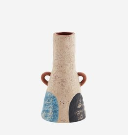 Madam Stoltz Terracotta vaasje met handvaatjes Ø3 h15 cm