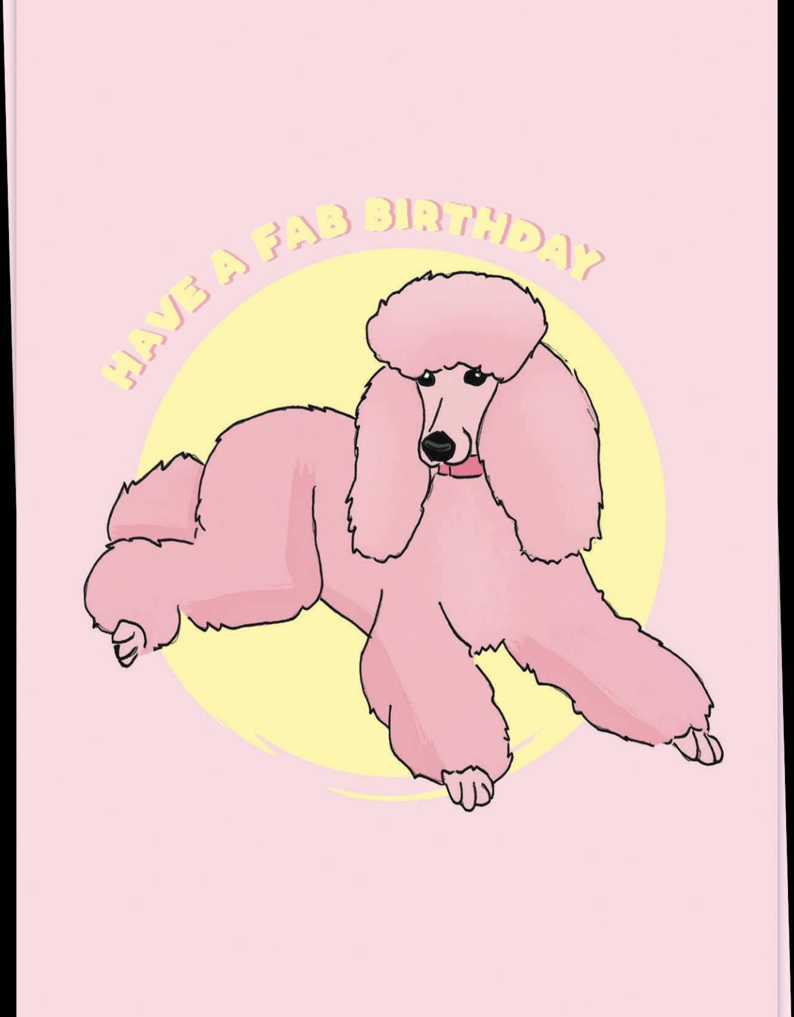 Kaart Blanche Happy poodle