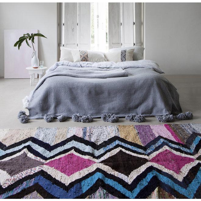 Moroccan Kilim Boucherouite Rug