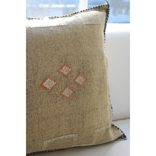Sabra Pillow from Morocco 'Sand Orange'