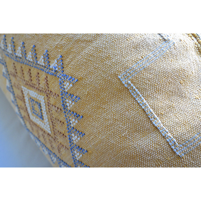 Moroccan Sabra Pillow 'Sunny Yellow Blue' 95 x 45 cm