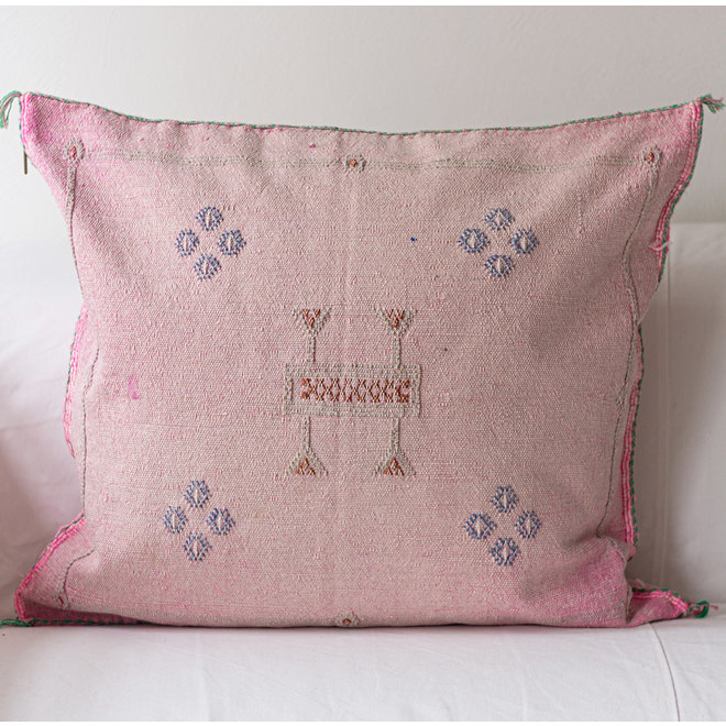 Cactus Silk Pillow from Morocco 60 x 60 cm