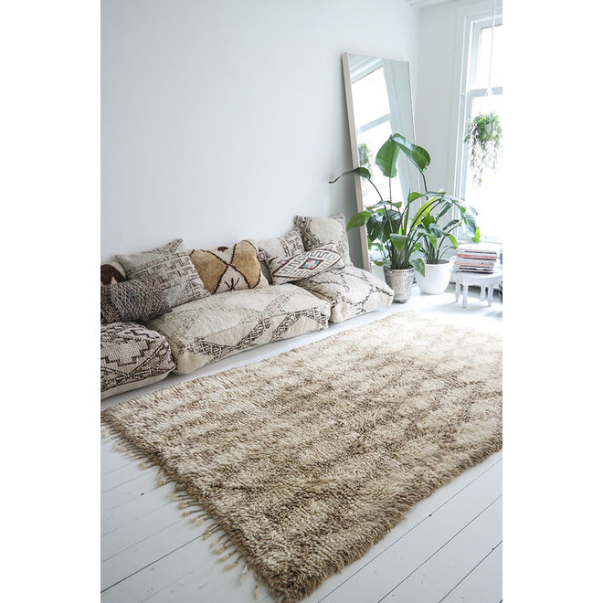Vintage Beni Ourain Rug from Morocco 'Almond' 233 x 151 cm
