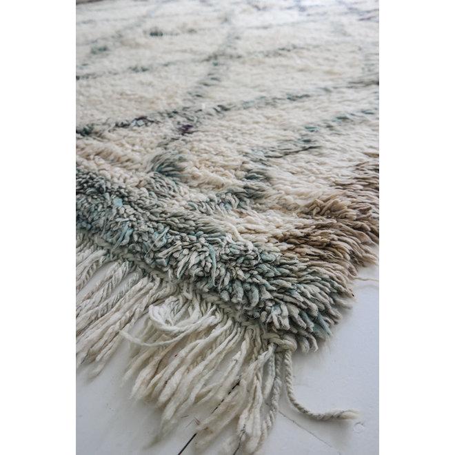 Vintage Beni Ouarain Kleed 'Sea Green' 285 x 195 cm