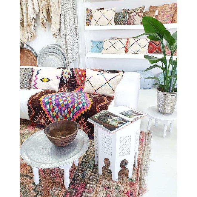 Moroccan table white 'Arabesque'