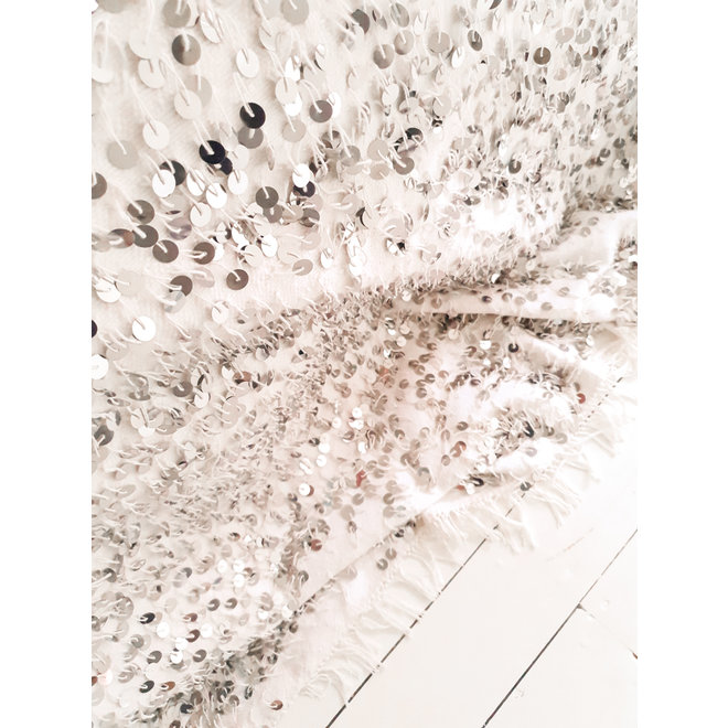 White Moroccan wedding blanket 285 x 215 cm