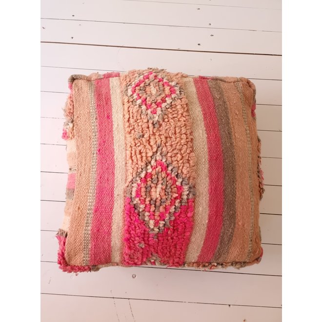 Moroccan Floor Pillow pink