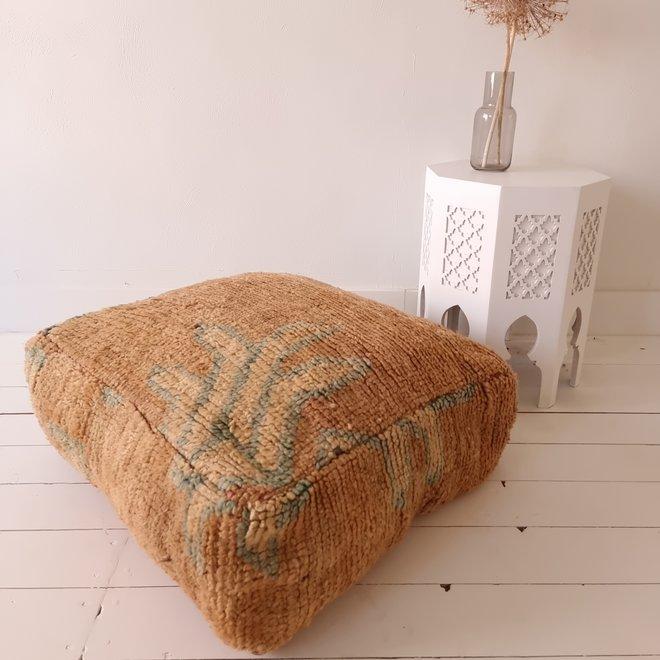Moroccan Floor Pillow Caramel Beige