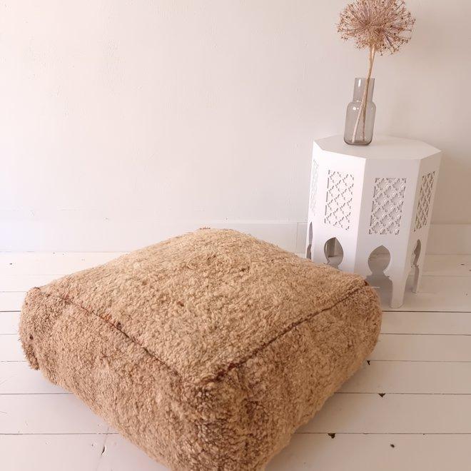 Moroccan Floor Pillow Warm Beige