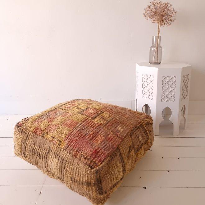 Moroccan Floor Pillow Aubergine