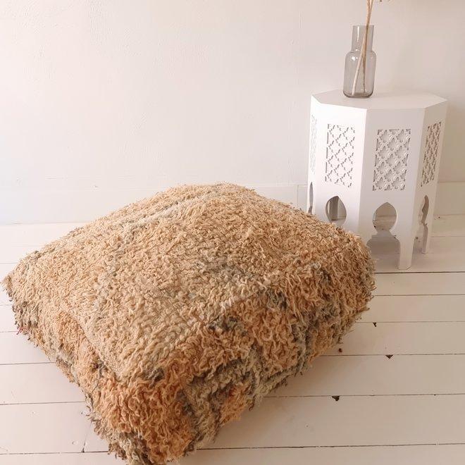 Moroccan Floor Pillow Orange beige