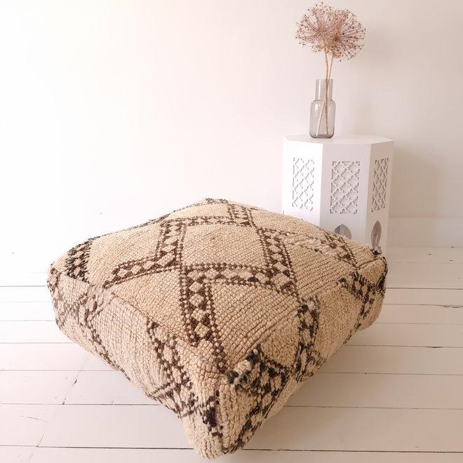 Moroccan Berber Floor Cushion Natural