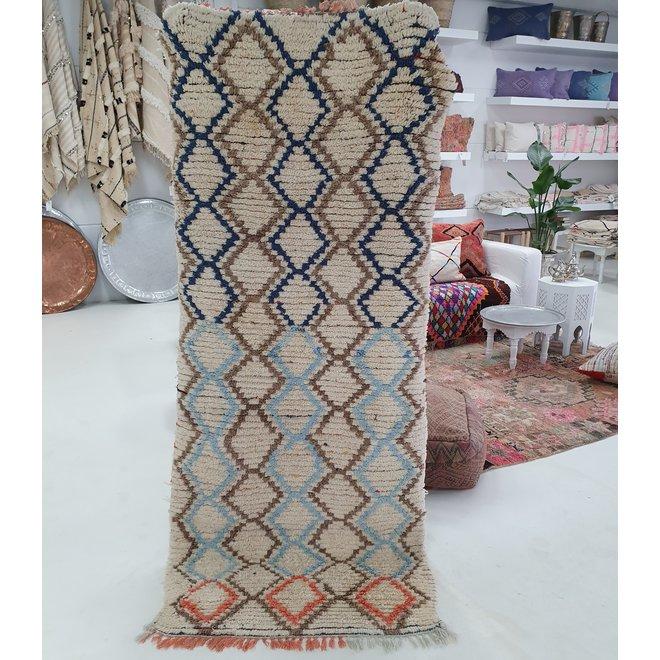 Runner rug handmade in  Morocco 90 x 210 cm