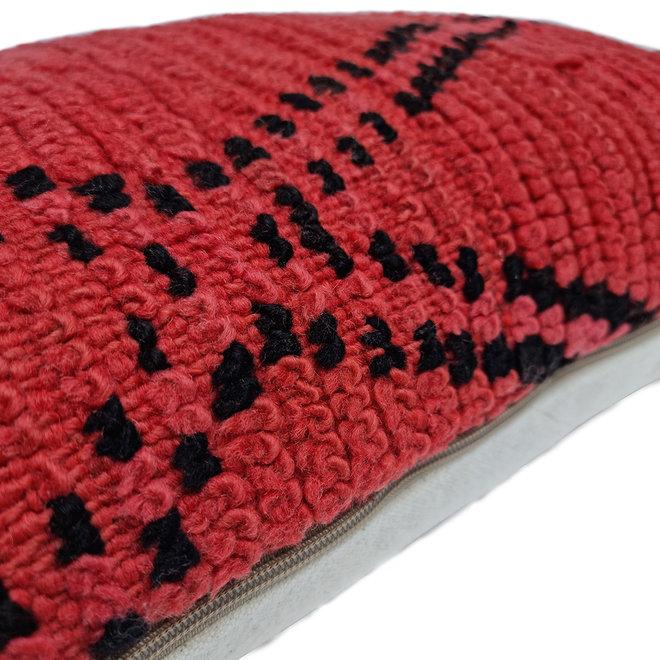 Moroccan Berber Pillow red