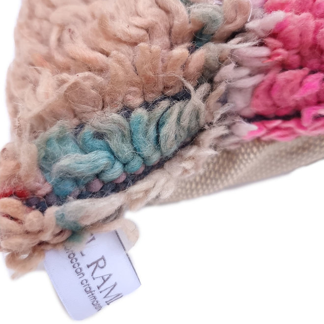 Moroccan Pillow peach turquoise