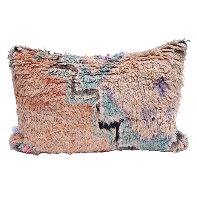 Moroccan Pillow peach turquoise grey