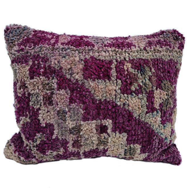 Moroccan Berber Pillow purple grey