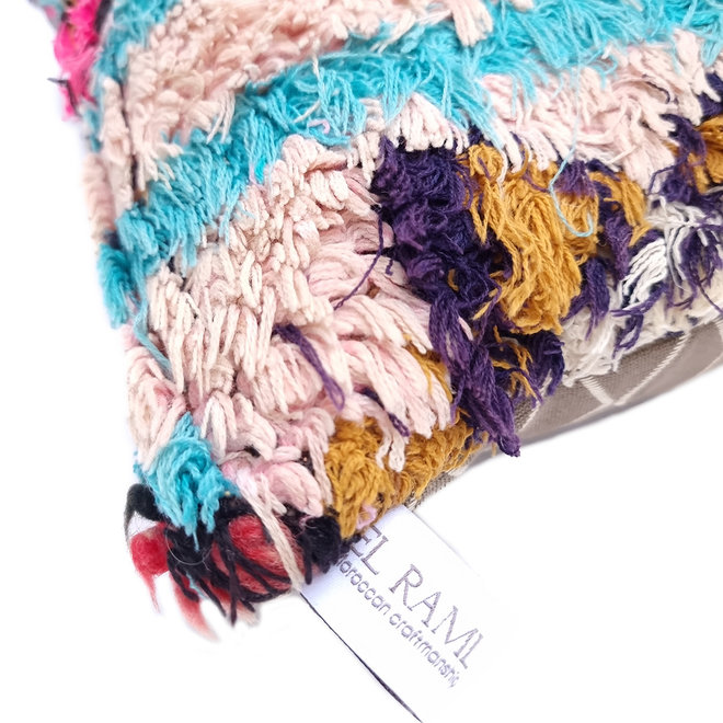 Vintage Berber Cushion Blush Lilac