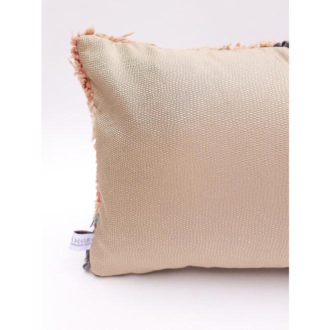 Authentic Pillow berber peach
