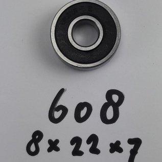 TBZ bearings 608-2RS lager, 8x22x7 2 kanten afgedicht