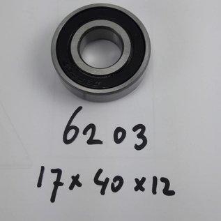 TBZ bearings 6203-2RS, 17x40x12 2 kanten afgedicht