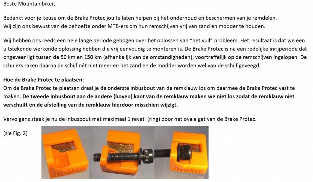 BP200rood; Brake Protec rood rembeschermers