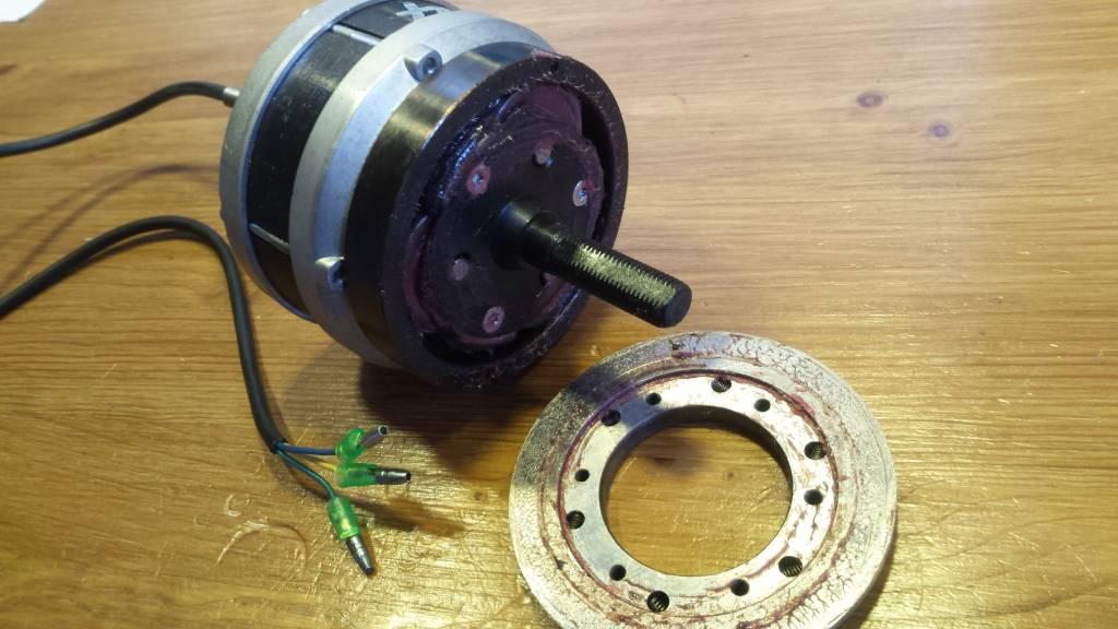 TX-MOT24L50; Electromotor TX 24 Volt links 50 cm kabel 3 stekkers