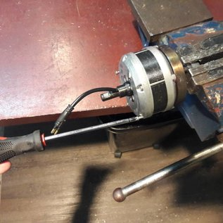 Mechanische deel van Electromotor TX24 en TX33 Volt Wordt geleverd zonder freewheel.