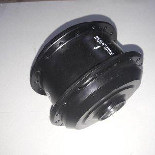 Naafhuls TX motor met deksel zwart. Kabel rechts.