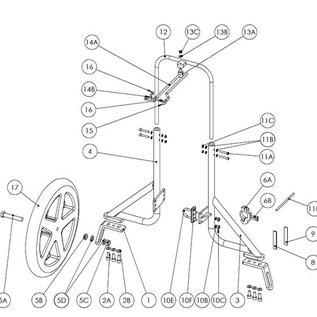 &Parts JP0030 Los wiel 12,5 inch Nylon op kogellagers