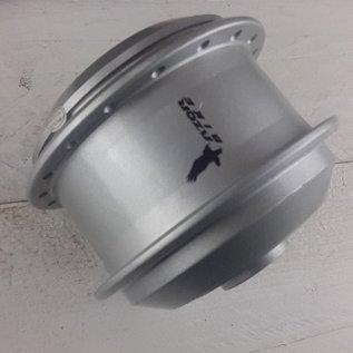 Naafhuls TX motor met deksel zilver. Kabel links.