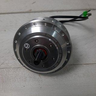 Voornaaf met electromotor TX24 Volt kabel links, geschikt voor rollerbrake