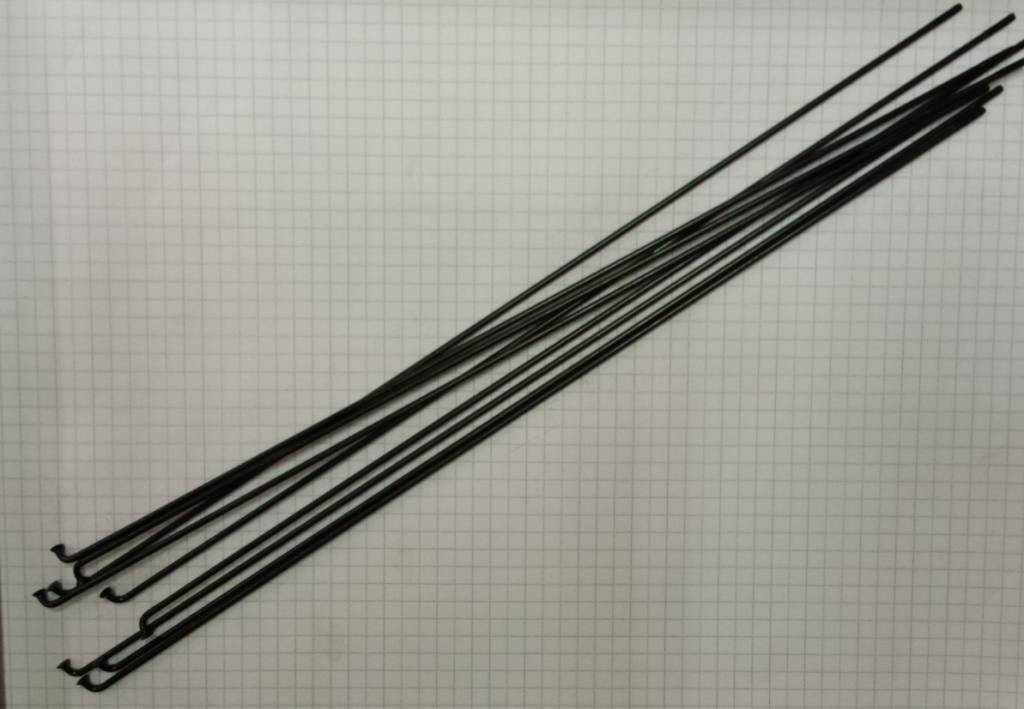 Spaak rvs zwart plain 2x292 (14g)