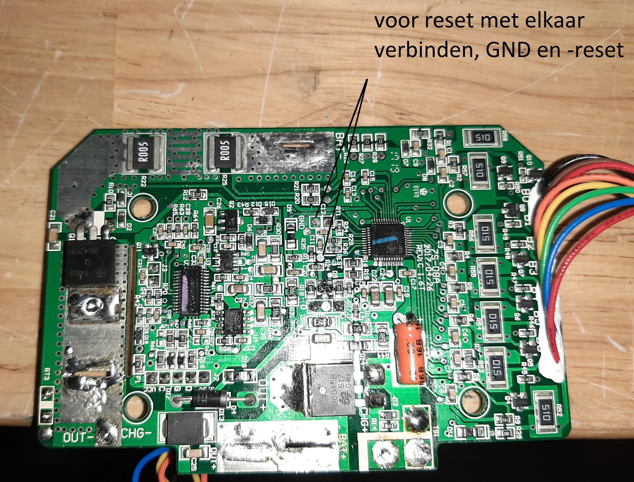 AC-SM-BMS-24V17Ah; Printplaat (BMS) voor Accu Smart 24Volt 17 AH