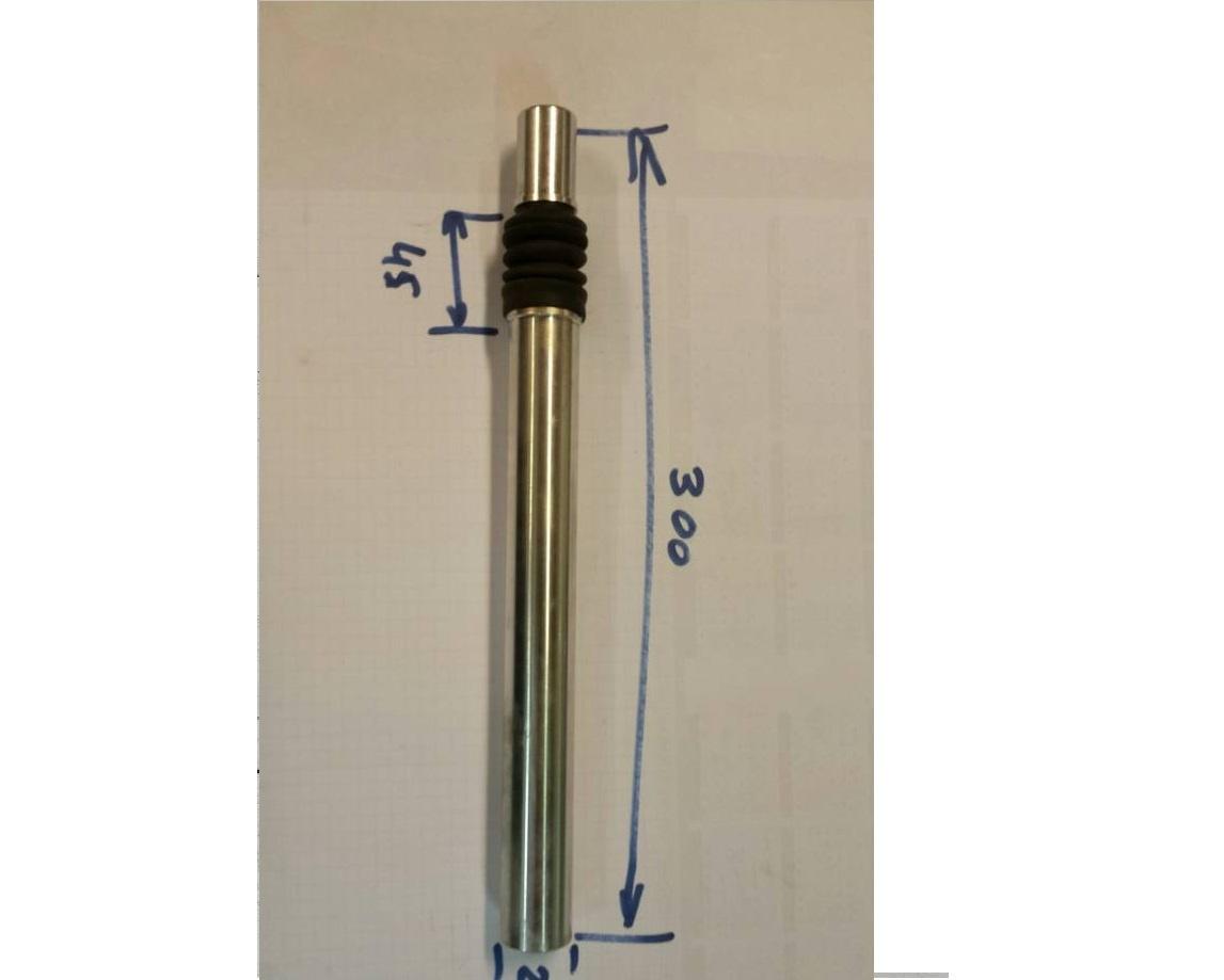 ZDP264KV; zadelpen verend 26,4 mm