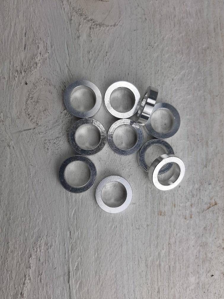 10x Ring Aluminium 12x18x4