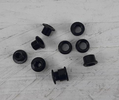 set van 5x Bladboutjes 5.5 tot 7mm zwart