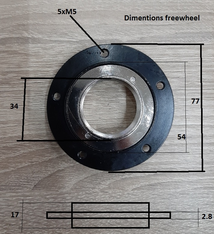 Los Freewheel voor frontfreewheel systeem tandem