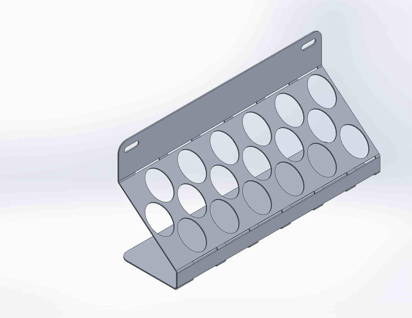 GER148 houder voor 18 lakstiften 25 mm
