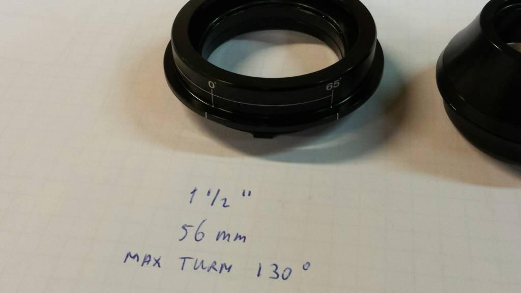 JP2100 Balhoofdstel met aanslag AHS Taper 1 1/2 inch / 1 1/8 inch max turn 130°
