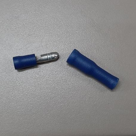 Kabelschoentje mannetje en vrouwtje 4mm per set blauw