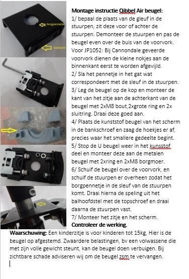 jp1050 Qibbel Air montage beugel voor AHS 1 1/8