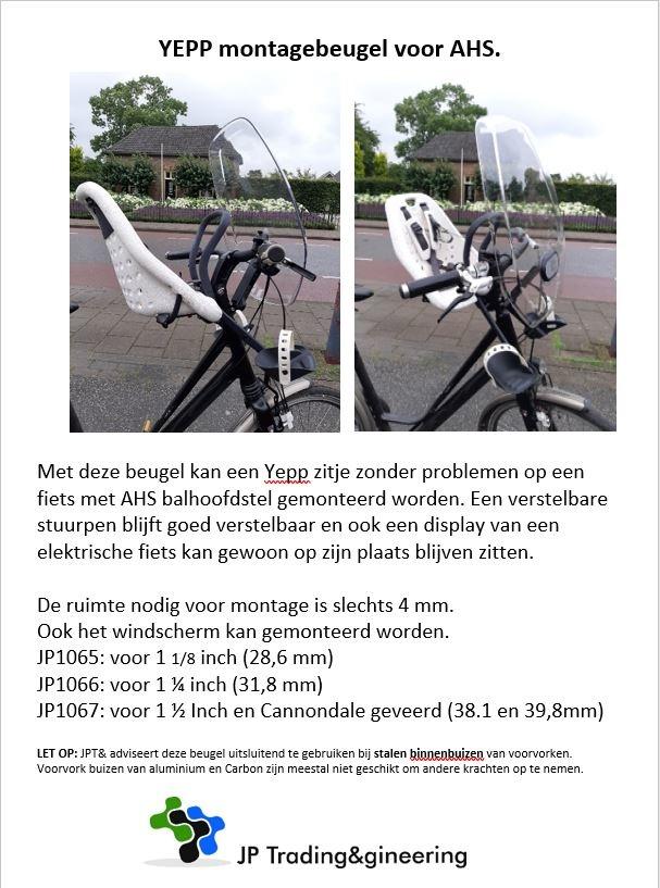 JP1065 AHS 1 1/8 Beugel voor Yepp+scherm