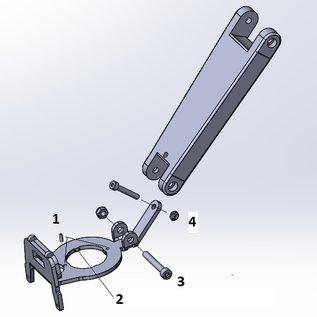 &Parts JP1075 AHS Beugel voor Thule / Yepp nexxt mini en scherm