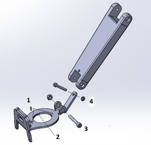 JP1075 AHS 1 1/8 Beugel voor Thule / Yepp nexxt mini en scherm