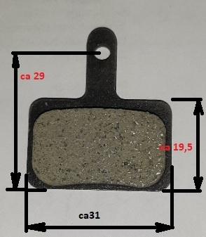 REM B01s (2x): 2 set Remblokken schijfrem B01S