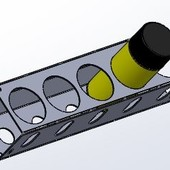 GER323 Spuitbushouder 3 bussen/flessen 90 mm  muurmontage